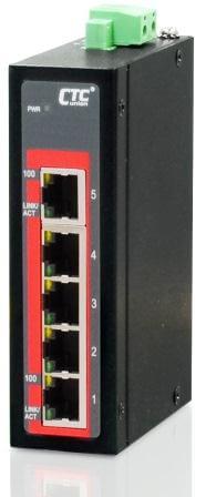 Компактный неуправляемый коммутатор  серии IFS-500C  5x 10/100Base-TX