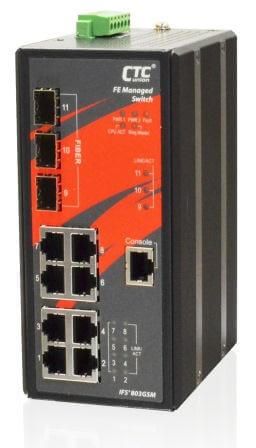 Управляемый коммутатор серии IFS+803GSM 8x 10/100Base–T + 3 SFP Gigabit Ethernet