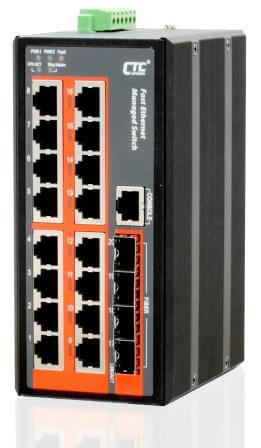 Управляемый коммутатор серии IFS-1604GSM 16x10/100Base–T + 4 SFP Gigabit Ethernet