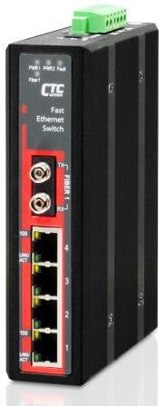 Неуправляемый коммутатор серии IFS-401F 4x 10/100Base-TX + 1 оптический порт Fast Ethernet