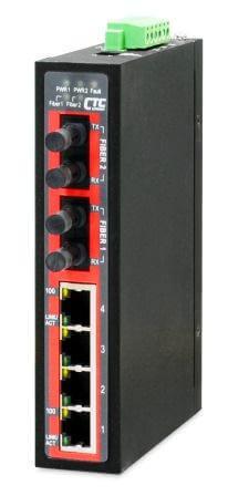 Неуправляемый коммутатор серии IFS-402F 4x 10/100Base-TX + 2 оптических порта Fast Ethernet