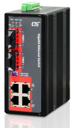 Неуправляемый коммутатор серии IGS-402F Gigabit Ethernet  4x 10/100/1000Base–T + 2 оптических порта