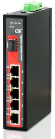 Неуправляемый коммутатор серии IGS-501S Gigabit Ethernet  5x 10/100/1000Base–T + SFP